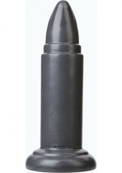 American Bombshell B-10 Missile Dildo Grey 8.8 Inch Long 6.59 Inch Girth