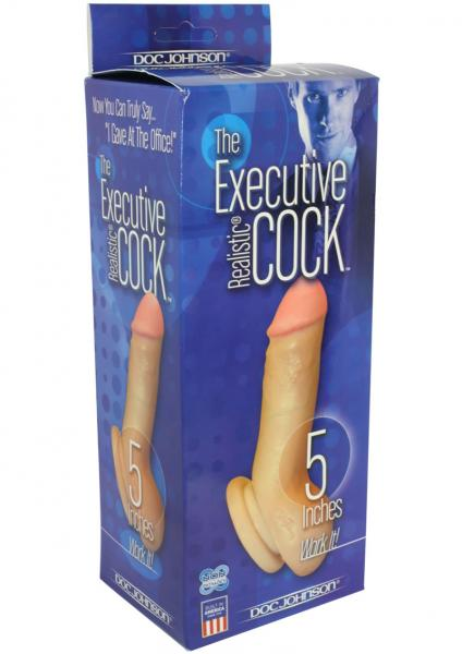 The Executive Realistic Cock 5 Inch Flesh