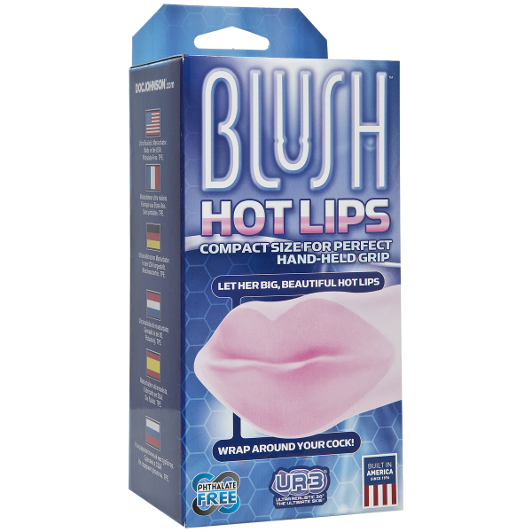 Hot Lips Mouth Masturbator Clear Pink