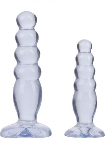 Crystal Jellies Anal Delight Trainer Kit Butt Plugs Clear