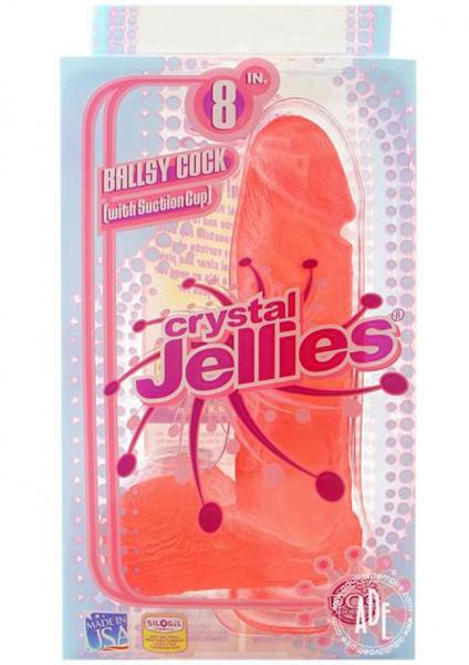 Crystal Jellie C*ck 8.75 inch - Pink