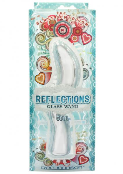 Reflections Glass Wand Cool Silver