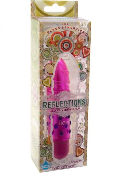 Reflections Glass Vibrator Hope 5 Inch Waterproof Pink