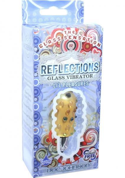 Reflections Glass Vibrator Lil Pleasures Waterproof Amber