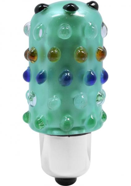 Reflections Glass Vibrator Lil Pleasures Bullet Waterproof Green