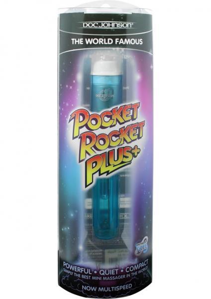 Pocket Rocket Plus+ Massager Blue