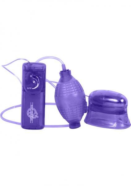 Pucker Up Vibrating Clitoral And Vaginal Pump Purple