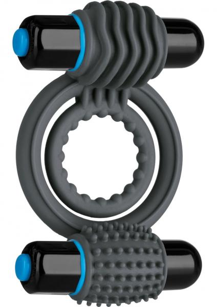 Optimale Silicone Vibrating Double C-Ring Slate