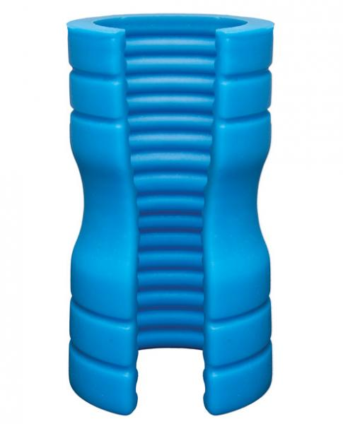Optimale Truskyn Silicone Ribbed Stroker Blue