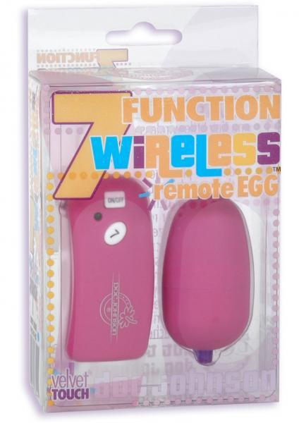 Velvet Touch 7 Function Wireless Remote Egg Fuchsia