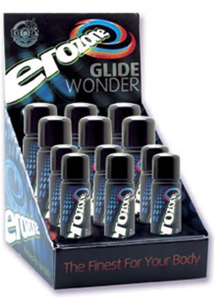 Erozone Glide Wonder Silicone Based Lubricant Assorted Sizes 12 Per Display