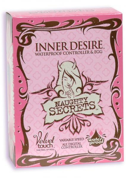 Naughty Secrets Velvet Touch Inner Desire Egg Waterproof Pink