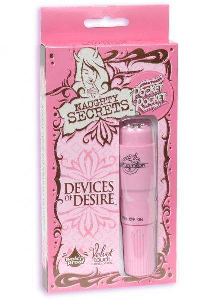 Naughty Secrets Devices Of Desire Pocket Rocket Waterproof 4 Inch Pink