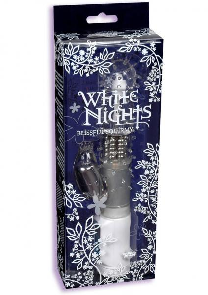 White Nights Blissful Squirmy Vibrator Waterproof 8.9 Inch White