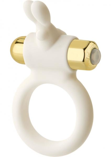 The White Wabbit Silicone 10 Function C-Ring - White