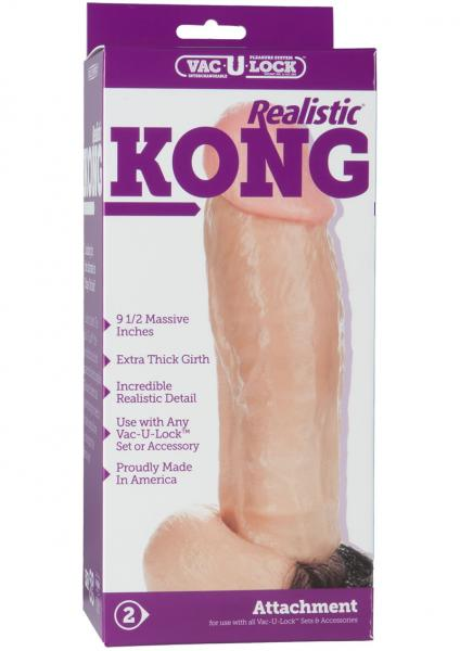 Kong Realistic Cock 9.5 Inch - Beige