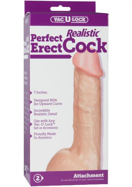 Perfect Erect Realistic 7 Inches Dildo Beige