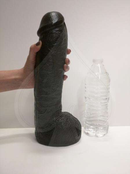 Vac U Lock Code Black Realistic Hung Dildo 12 inches
