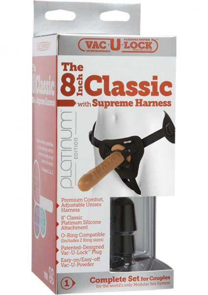 "The Classic 8"" Silicone with Supreme Harness"