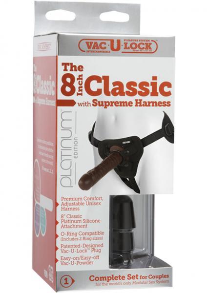 Vac-U-Lock Platinum Classic Cock Supreme Harness Silicone Black