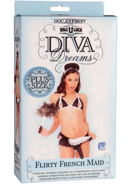 Vac U Lock Diva Dreams Harness System French Maid Plus