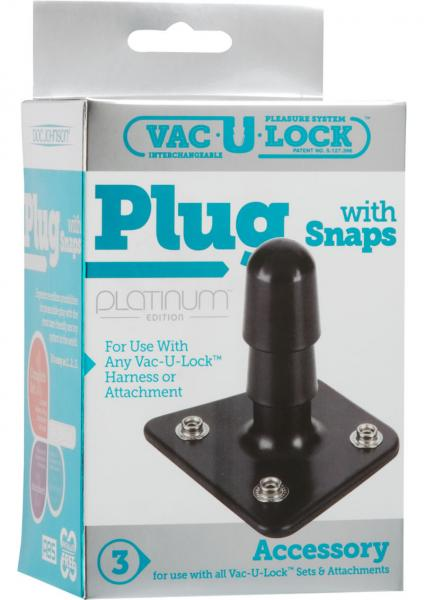 Vac U Lock Platinum Plug With Snaps Accessory Black