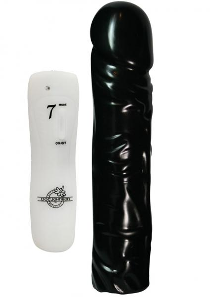 Vibrating Classic Dong 7 Function 8 Inch Black