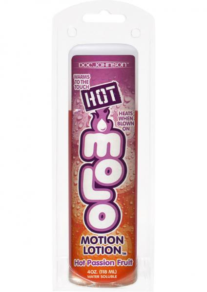 Hot Motion Lotion Flavored Water Based Passion Fruit 4 Ounce