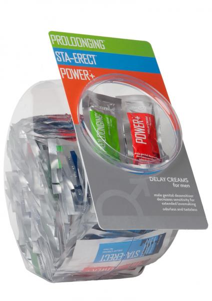 Delay Creams For Men Assorted Foil Packs 144 Per Bowl