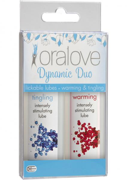 Oralove Dynamic Duo Lickable Warming And Tingling Lubes