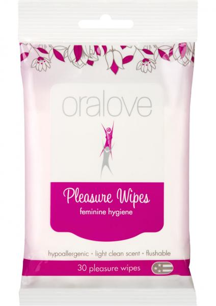 Oralove Pleasure Wipes Feminine Hygiene 30 Wipes