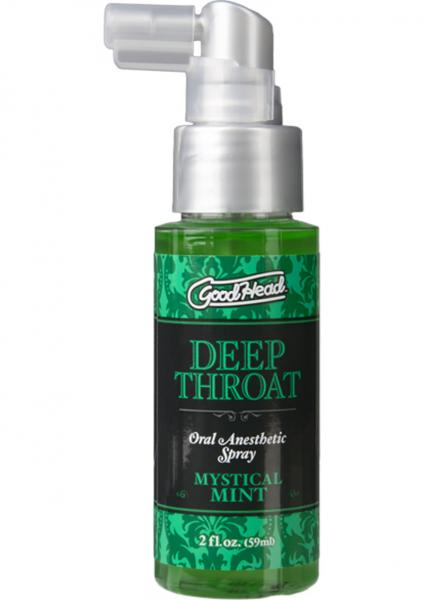 Goodhead Deep Throat Oral Anesthetic Spray Mystical Mint 2oz