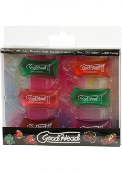 Goodhead Oral Sex Gel Pillows .25 ounce 6 Assorted Flavors 6 Per Pack
