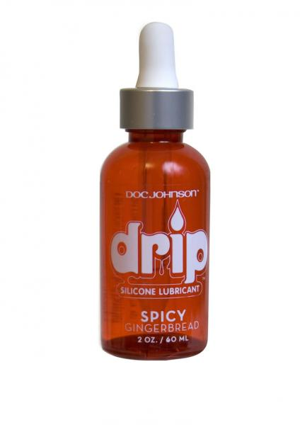 Drip Silicone Based Lubricant Spicy Gingerbread 2 Ounce