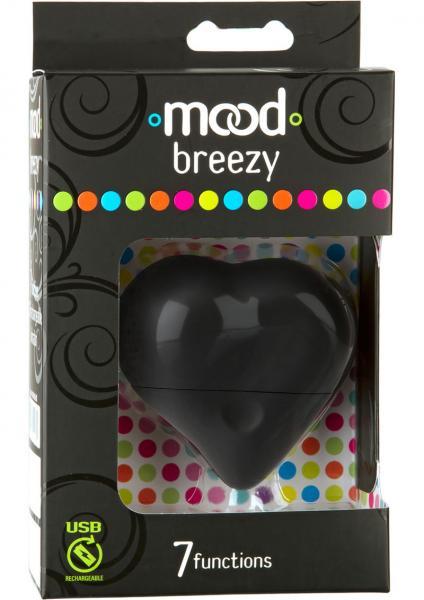 Breezy 7 Function Heart Massager Black