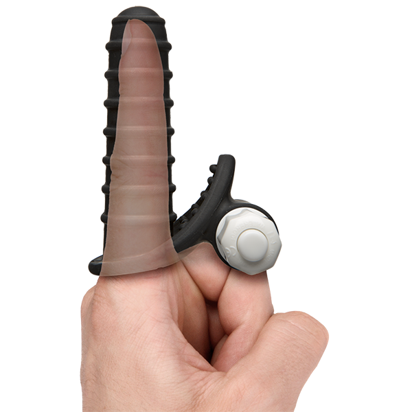 Mood Euphoric Ridged Black Finger Vibrator