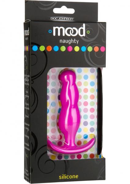 Mood Naughty 3 Anal Plug Silicone Pink 3.5 Inch