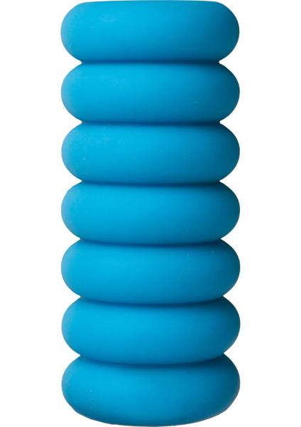 Mood Thrill Triple Texture Masturbator Blue