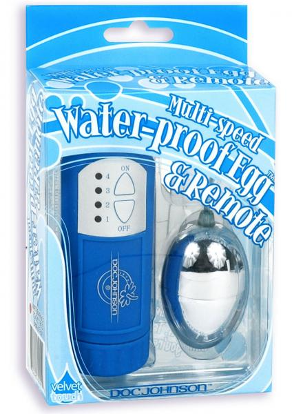 Velvet Touch Waterproof Egg And Remote Blue