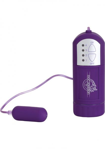 Velvet Touch Mini Bullet And Controller Waterproof Purple