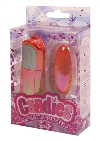 Candies Metallic Bullet And Remote Waterproof Pink