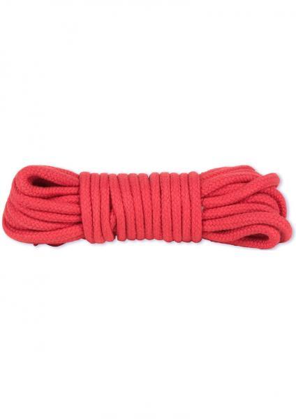 Japanese Style Bondage Rope Cotton Red 32 Feet