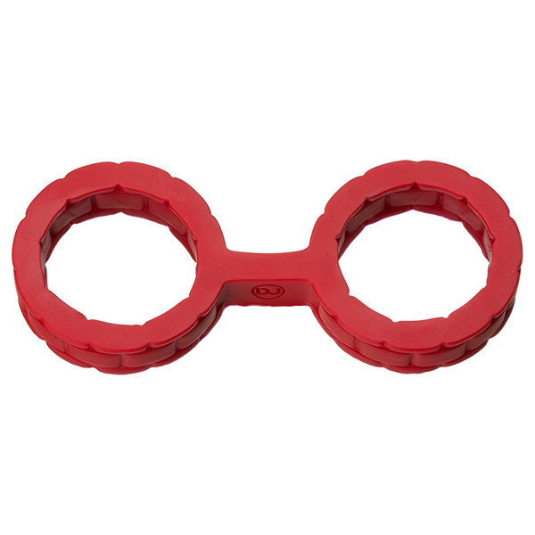 Japanese Bondage Silicone Cuffs Small Red