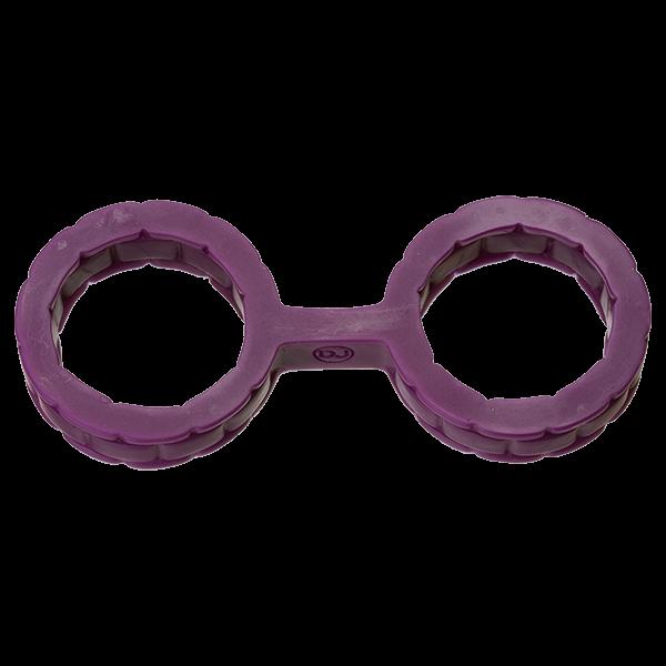 Japanese Bondage Silicone Cuffs Small Purple