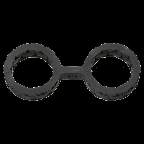 Japanese Bondage Silicone Cuffs Small Black