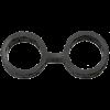 Japanese Bondage Silicone Cuffs Large Black