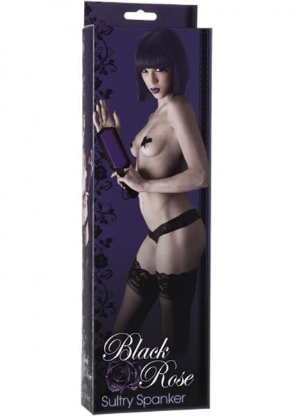 Black Rose Sultry Spanker Paddle Black/Purple