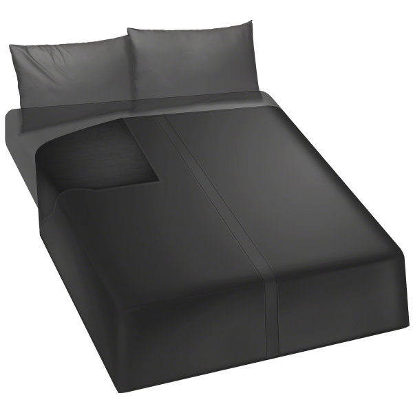 Kink Wet Works Waterproof Flat Sheet King Size Black