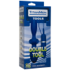 Titanman Double Tool Butt Plug Blue