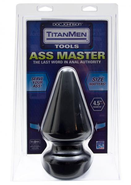 Titanmen Ass Master Butt Plug 4.5 Inches Black